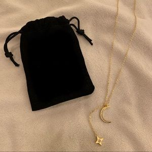 Jewelry - Box of Style Lili Clasp Rope Moon Lariat Necklace